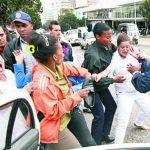 La policía política del régimen cubano detiene a integrantes de las Damas de Blanco.