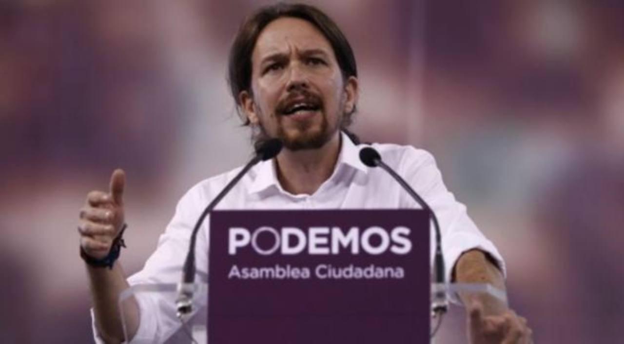 Pablo Iglesias Turrión, dirigente y secretario general del partido de izquierda Podemos. Este grupo participó en las elecciones europeas de 2014, logrando cinco escaños, lo que lo convirtió en el cuarto partido más votado de España. foto edh / elpais