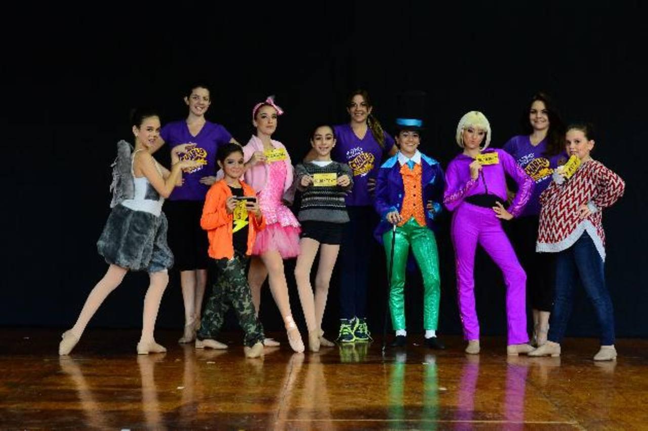"""El elenco de """"Charlie y la Fábrica de Chocolate"""" está listo para endulzar el Teatro Presidente. foto EDH / Omar Carbonero."""