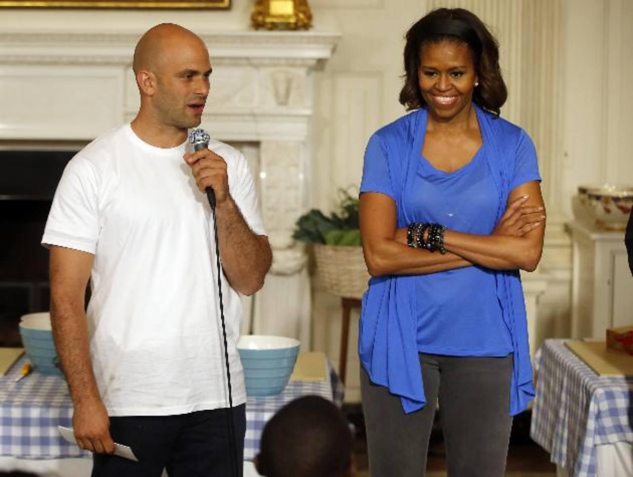 El cocinero junto a la Primera Dama de Estados Unidos