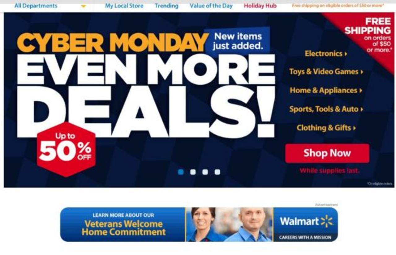 Comercios como Walmart dieron hasta 50% de descuento en productos seleccionados para el día. foto edh / tomada de internet