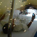 Un infante de 11 años lesionado con pólvora se recupera en el hospital Bloom. Foto EDH / douglas urquilla
