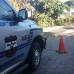 Escena de homicidio en Soyapango./