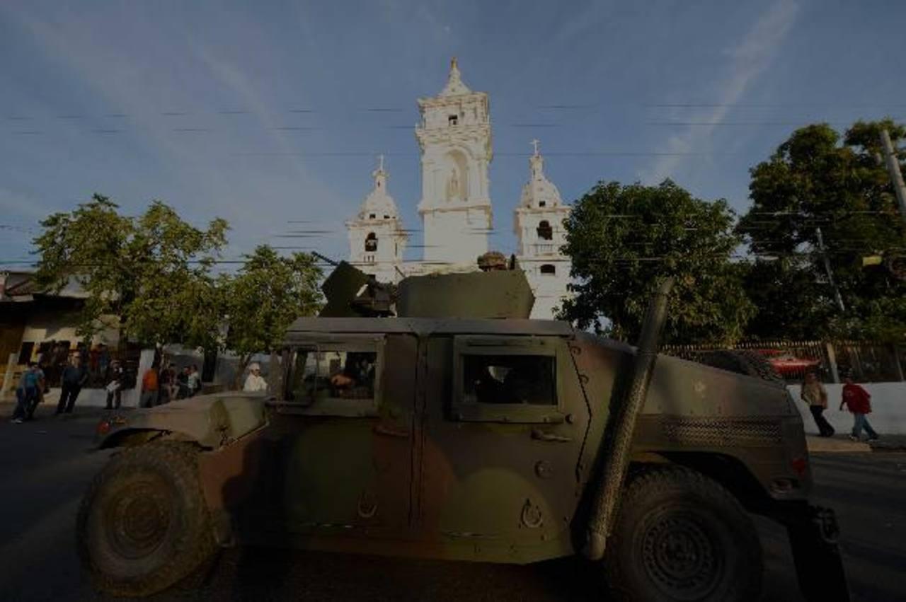 Despliegue militar en Zacatecoluca por amenazas