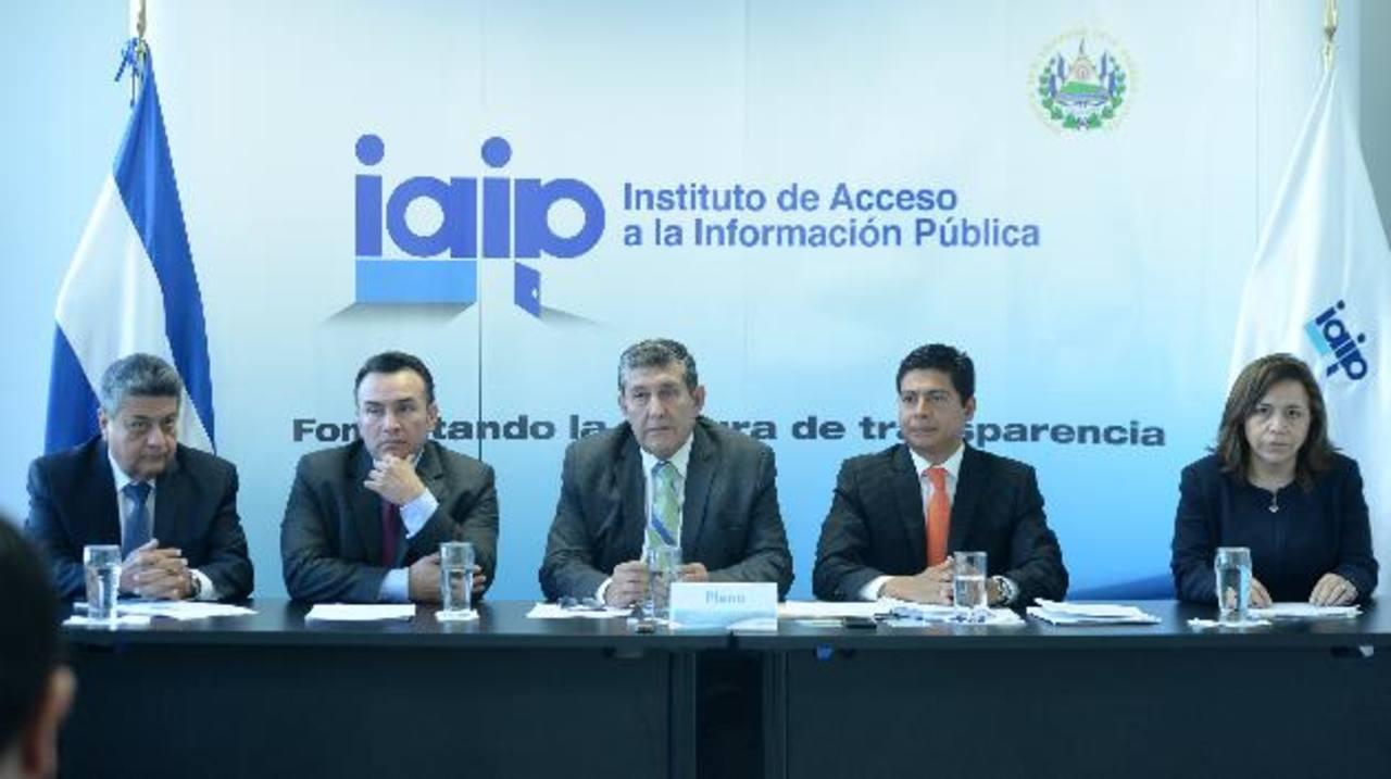 Los comisionados del IAIP fallaron por unanimidad a favor de mantener la reserva. foto edh Magistrados del TSE continuarán en encerrona.