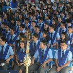 La promoción XVI la conformaron 88 estudiantes de los bachilleratos generales y técnico vocacional. Fotos EDH / douglas urquilla