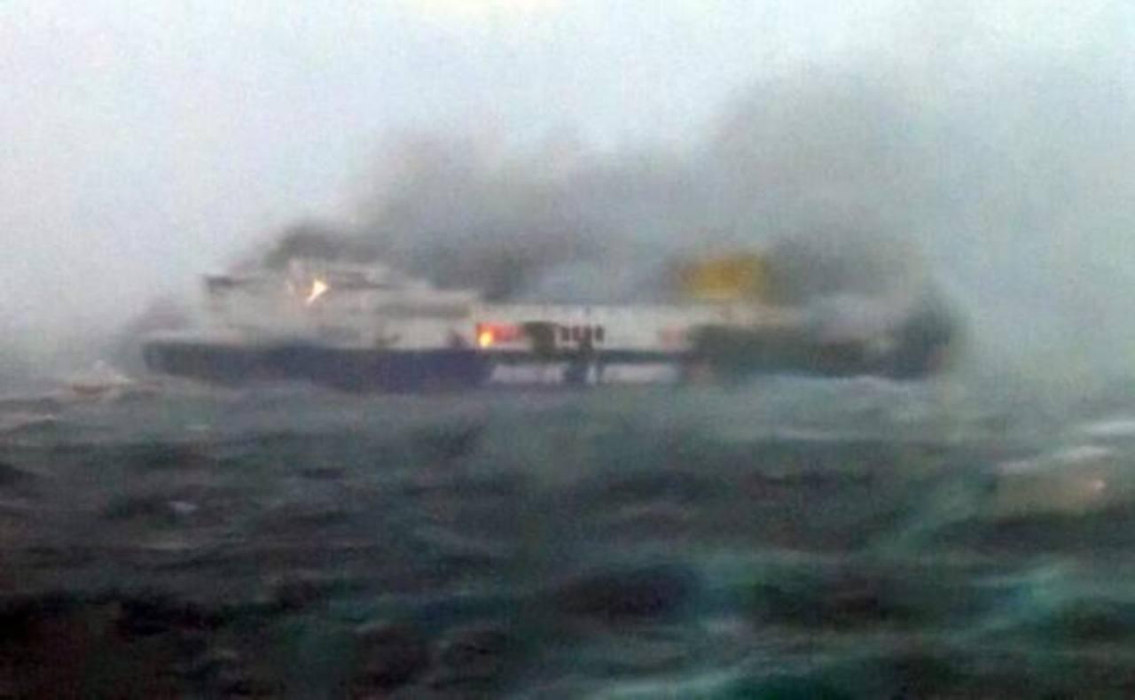 Aumentan a ocho los muertos en el incendio del ferri Norman Atlantic
