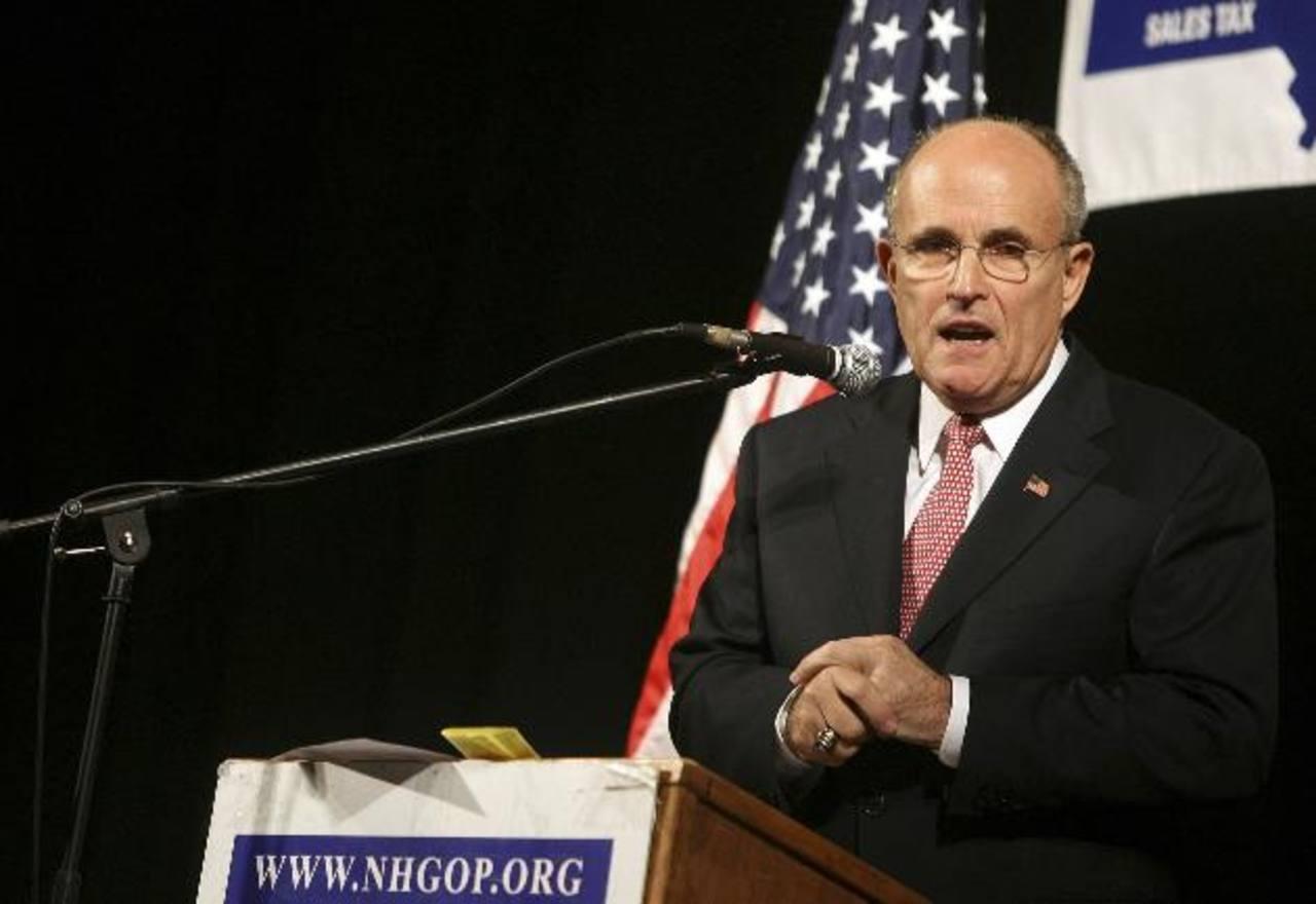 Exalcalde de Nueva York Rudolph Giuliani