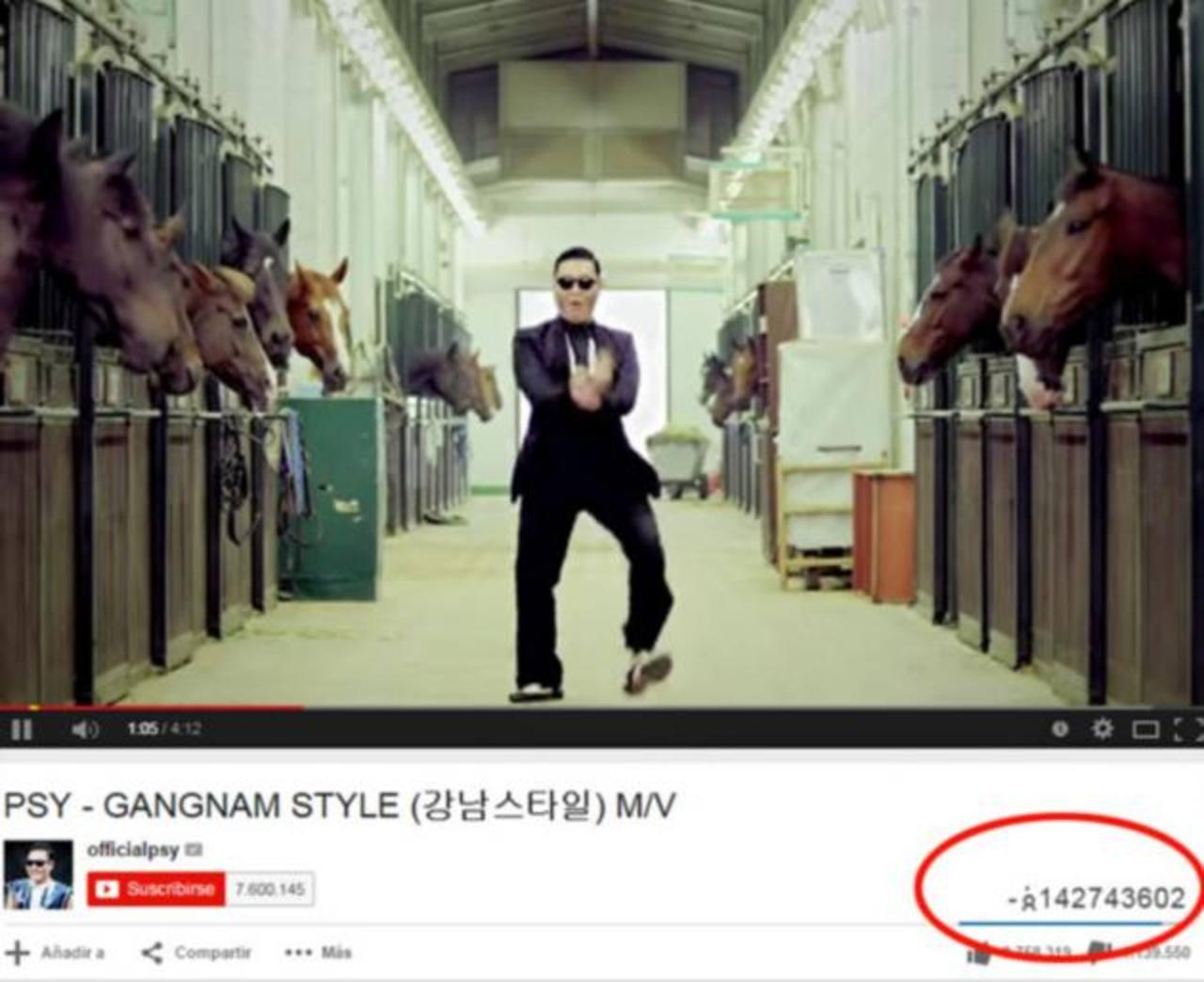 Gangnam Style rompe contador de YouTube