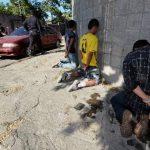 Tres sujetos fueron detenidos ayer, luego de una persecución en la comunidad Tutunichapa II. foto edh /Jaime anaya