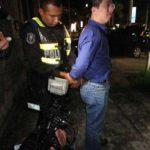 Uno de los capturados anoche.