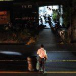 Taller donde ayer fue asesinado el investigador policial, José Neftaly Gutiérrez, en Apopa. Foto EDH / MIGUEL VILLALTA.