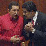 El fallecido presidente de Venezuela, Hugo Chávez, junto al actual mandatario que le sucedió, Nicolás Maduro. foto edh / archivo