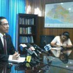 El procurador para la Defensa de los Derechos Humanos, David Morales, durante la conferencia de prensa brindada este martes.