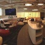 La sala VIP cuenta con un espacio de 270 metros cuadrados, con zonas diferenciadas para el descanso, el trabajo, el entretenimiento y la alimentación.