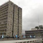 Imagen del edificio del Banco de Guatemala, que anunció que las nuevas monedas entrarán en circulación el próximo 19 de enero.