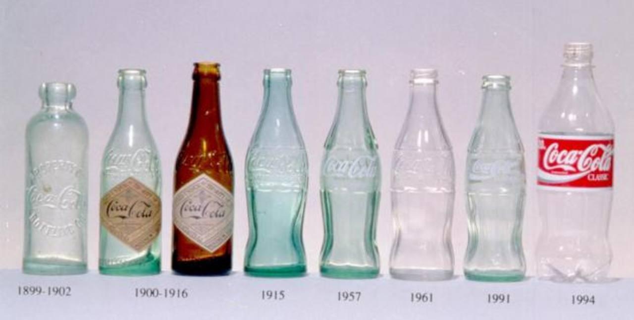 """El actual envase de Coca Cola fue diseñado en 1915, conocido después como """"contour""""."""