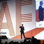 El consejero delegado de Prodigy Network y experto en crowdfunding y urbanismo, Rodrigo Niño, durante su intervención en el Alumni Forum 2015.