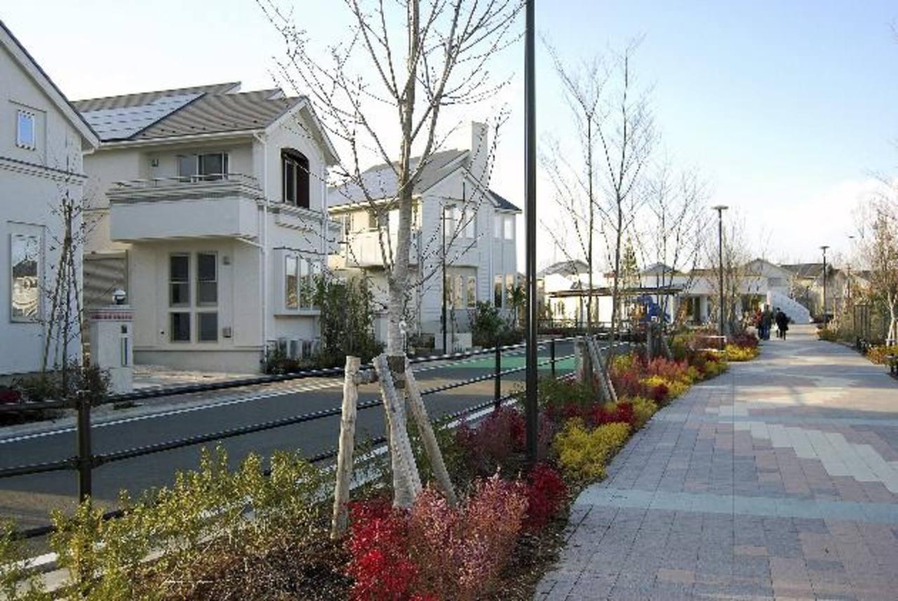 Vista de viviendas en la ciudad de Fujisawa.