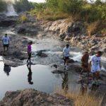 Parte del recorrido de los atletas lo hicieron por los ausoles de Ahuachapán. Foto EDH / Cortesía.