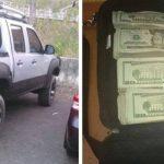 La Policía decomisó el dinero y un vehículo en el que viajaban los 2 hombres