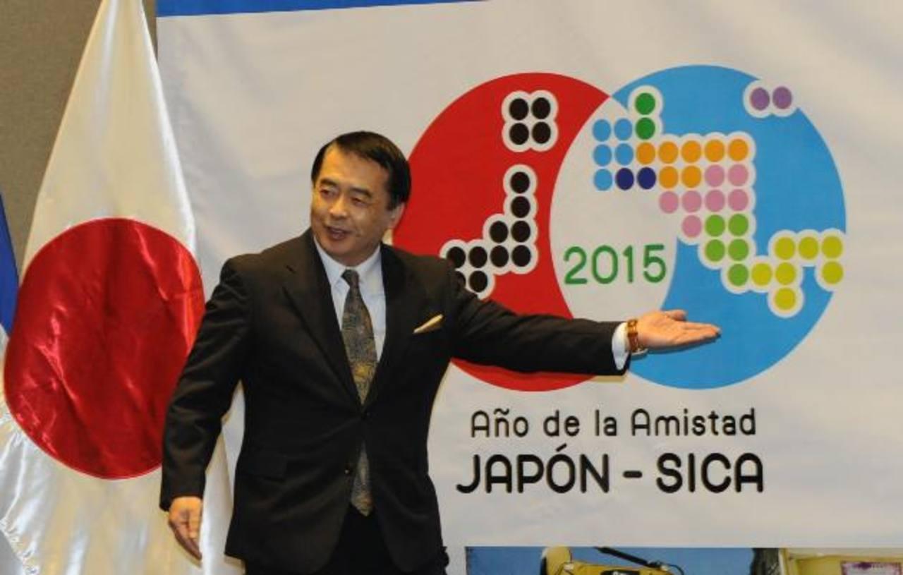 El embajador de Japón, Masataka Takahara, agradeció la asistencia de los invitados. Foto EDH / Miguel Villalta