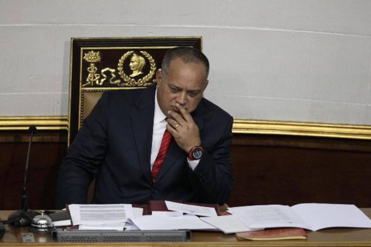 Diosdado Cabello, presidente de la Asamblea Nacional de Venezuela y segundo al mando en el partido oficialista. Foto EDH/ Archivo