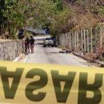 Escena de homicidio en kilómetro 13 en San Marcos. /