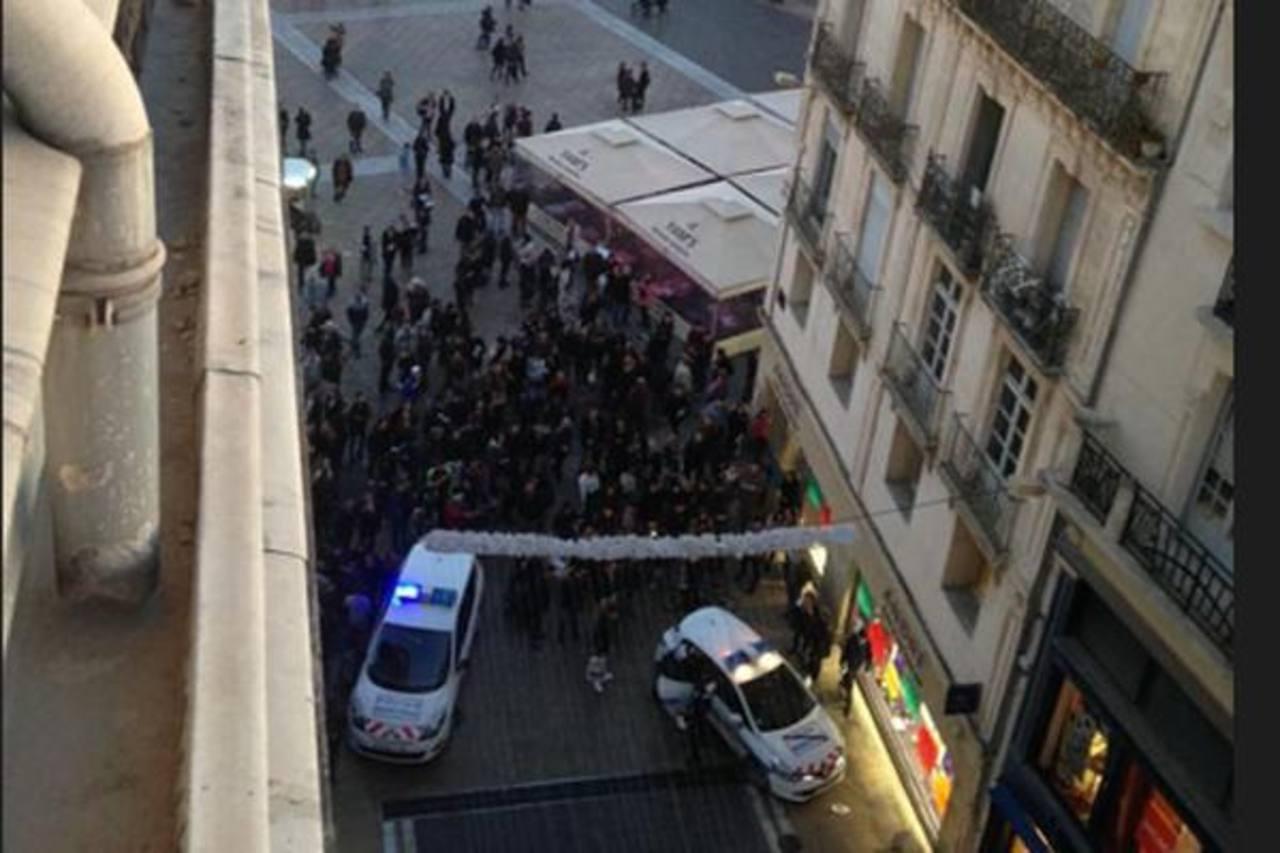 El atraco fue en el centro de Montpellier.
