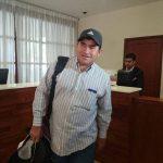José Salvador Alvarenga dio una conferencia de prensa ayer en un hotel capitalino.