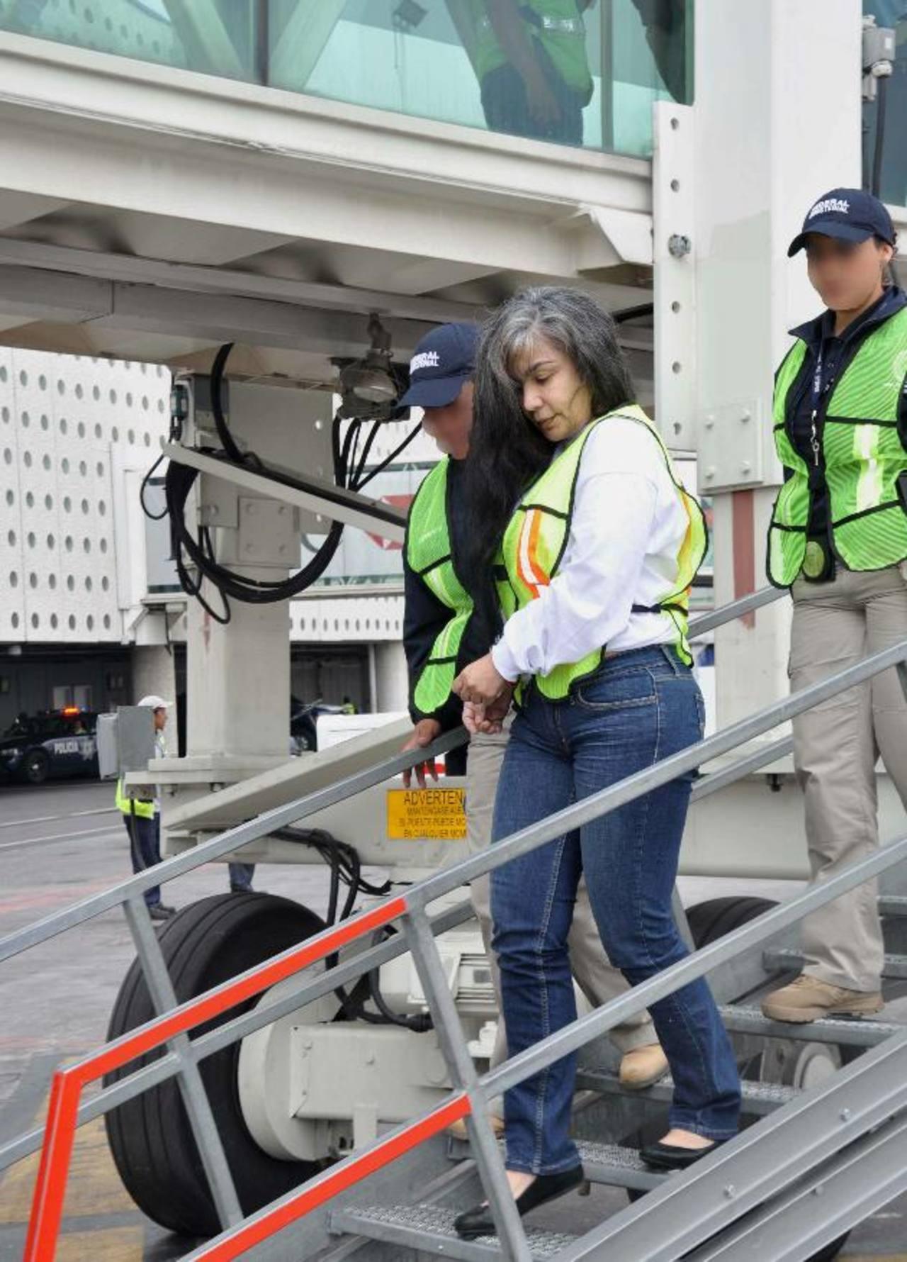 La narcotraficante, Sandra Ávila Beltrán, fue repatriada de EE. UU. en 2013.