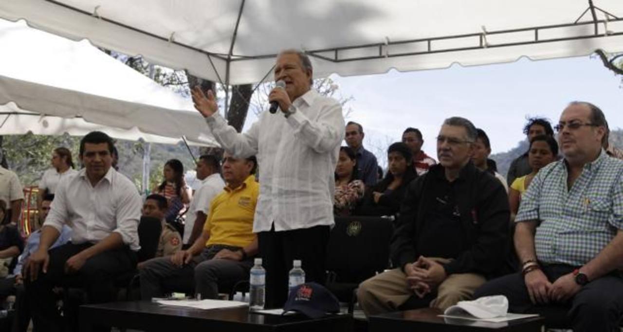 Sánchez Cerén, durante el programa sabatino Gobernando con la Gente.