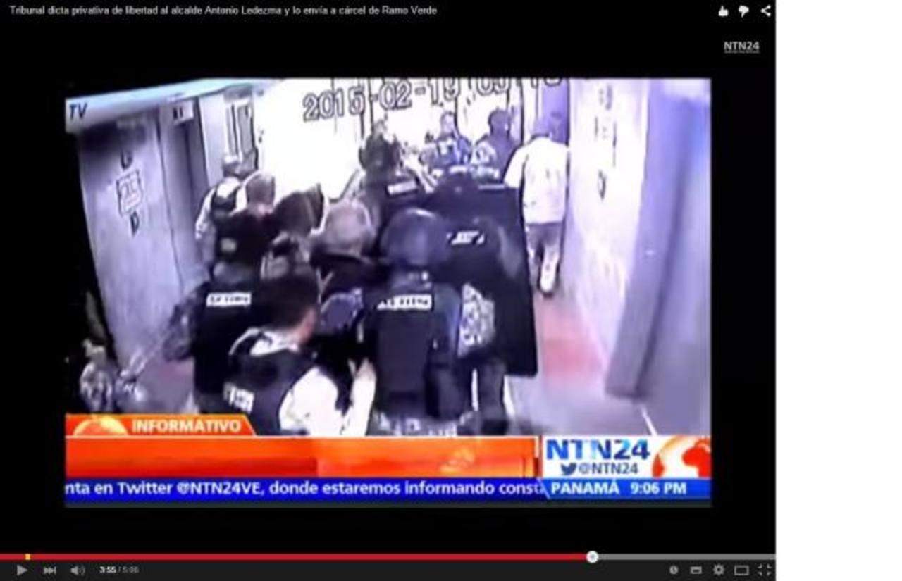 Las imágenes del fuerte operativo para detener al alcalde caraqueño Antonio Ledezma, el pasado jueves. foto edh / internet