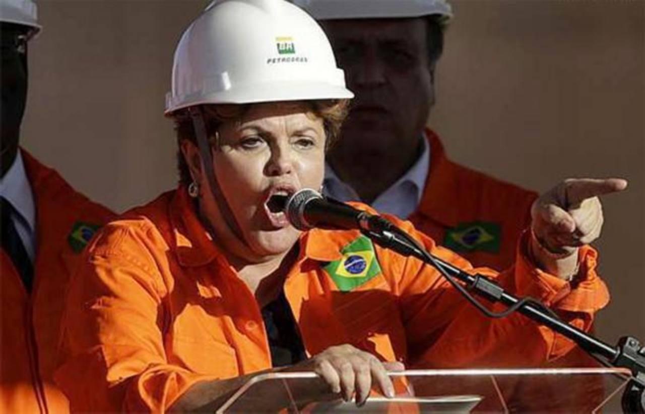 La presidenta Dilma Rousseff culpa a gobiernos anteriores, menos al de su partido, por la corrupción en Petrobras. foto edh / internet