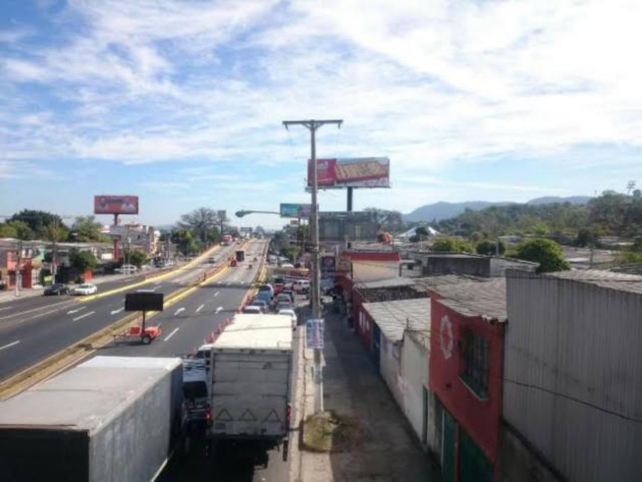 Colapsa tráfico en bulevar Los Próceres por trabajos del Fovial