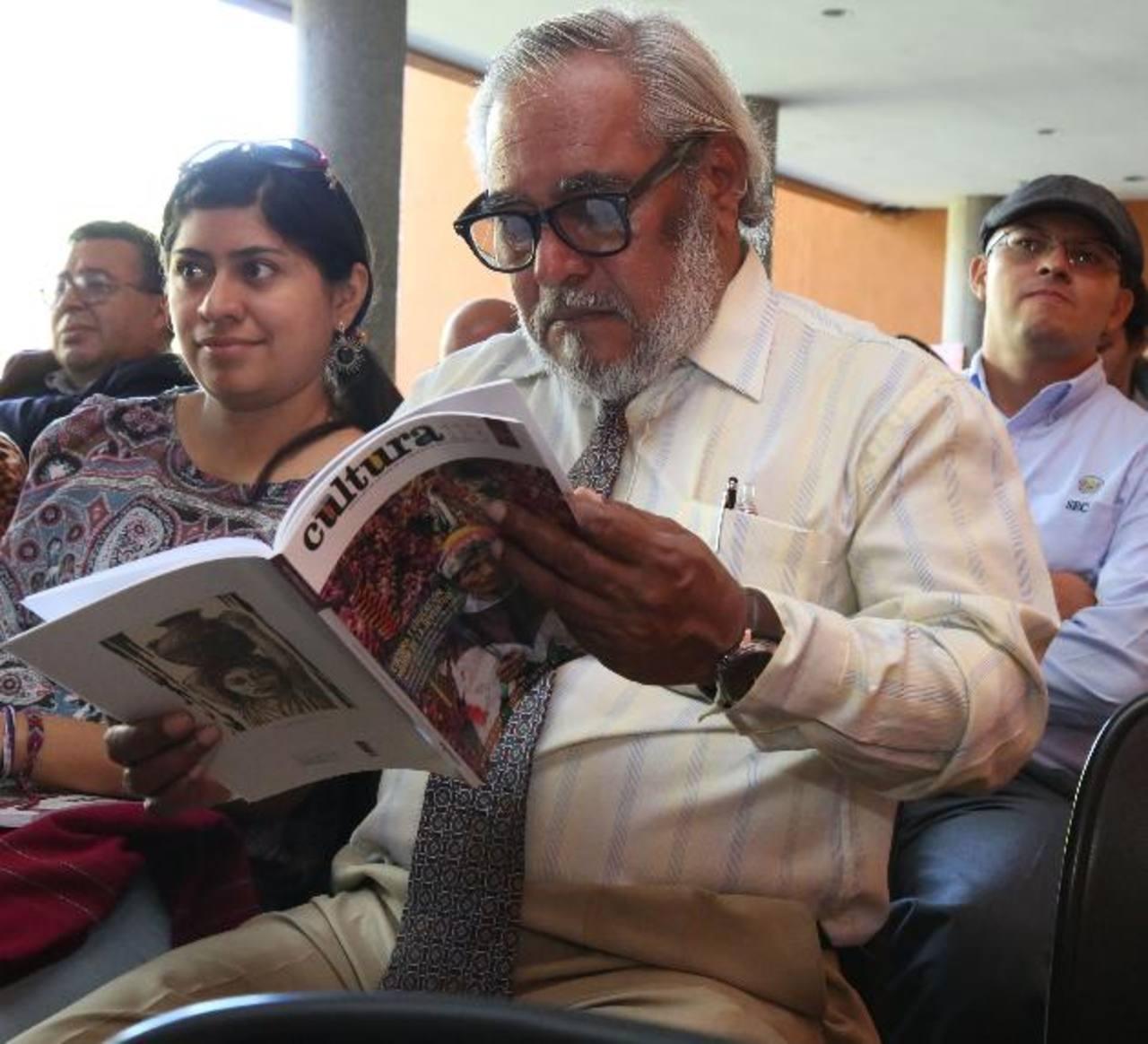 """Ayer, en el Museo MUNA, Secultura lanzó la nueva edición de la revista """"Cultura"""". Foto EDH / Cortesía."""