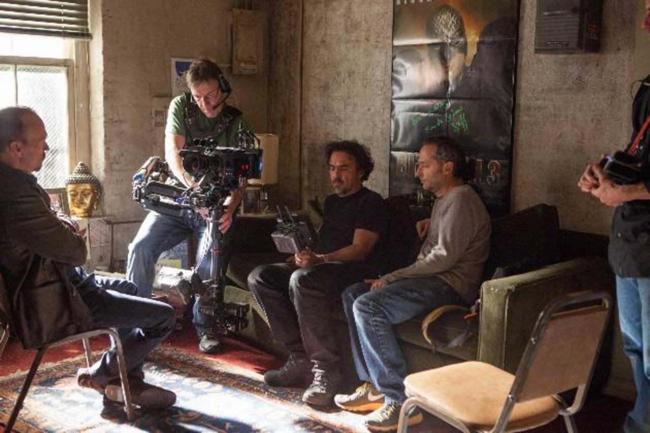 """Alejandro González Iñárritu en la grabación de """"Birdman"""", protagonizada por Michael Keaton."""