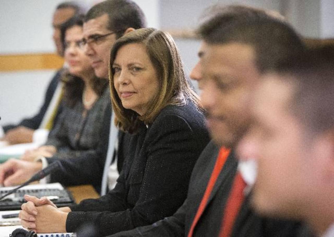 La delegada cubana, Josefina Vidal, ayer en Washington. foto Efe