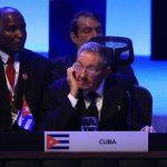 El presidente cubano, Raúl Castro, ayer durante el cierre de la cumbre de la CELAC en Belén, Costa Rica. Foto EDH /EFE
