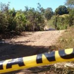 Escena de asesinato en cantón El Ángel, San Juan Opico, La Libertad.