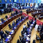 Los diputados de la Asamblea Legislativa se solidarizaron ayer con un pronunciamiento público. foto edh / jorge reyes.