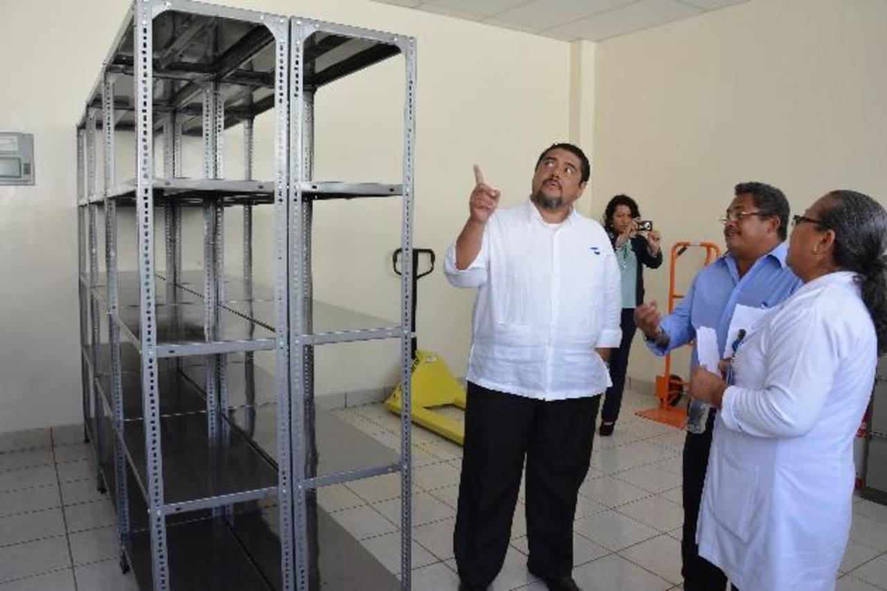 El almacén tendrá mayor capacidad para el resguardo de medicamentos. Foto EDH / Carlos Segovia.