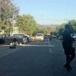Lugar donde un agente fue asesinado en Apopa./