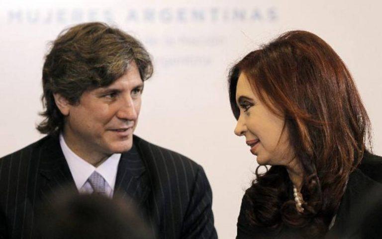 El vicepresidente Amado Boudou junto a la presidenta de Argentina, Cristina Fernández de Kirchner. foto edh / archivo