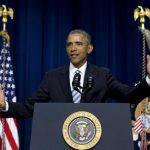 El presidente Barack Obama en su discurso durante la Cumbre contra el Extremismo Violento organizada por la Casa Blanca. Foto EDH / ap