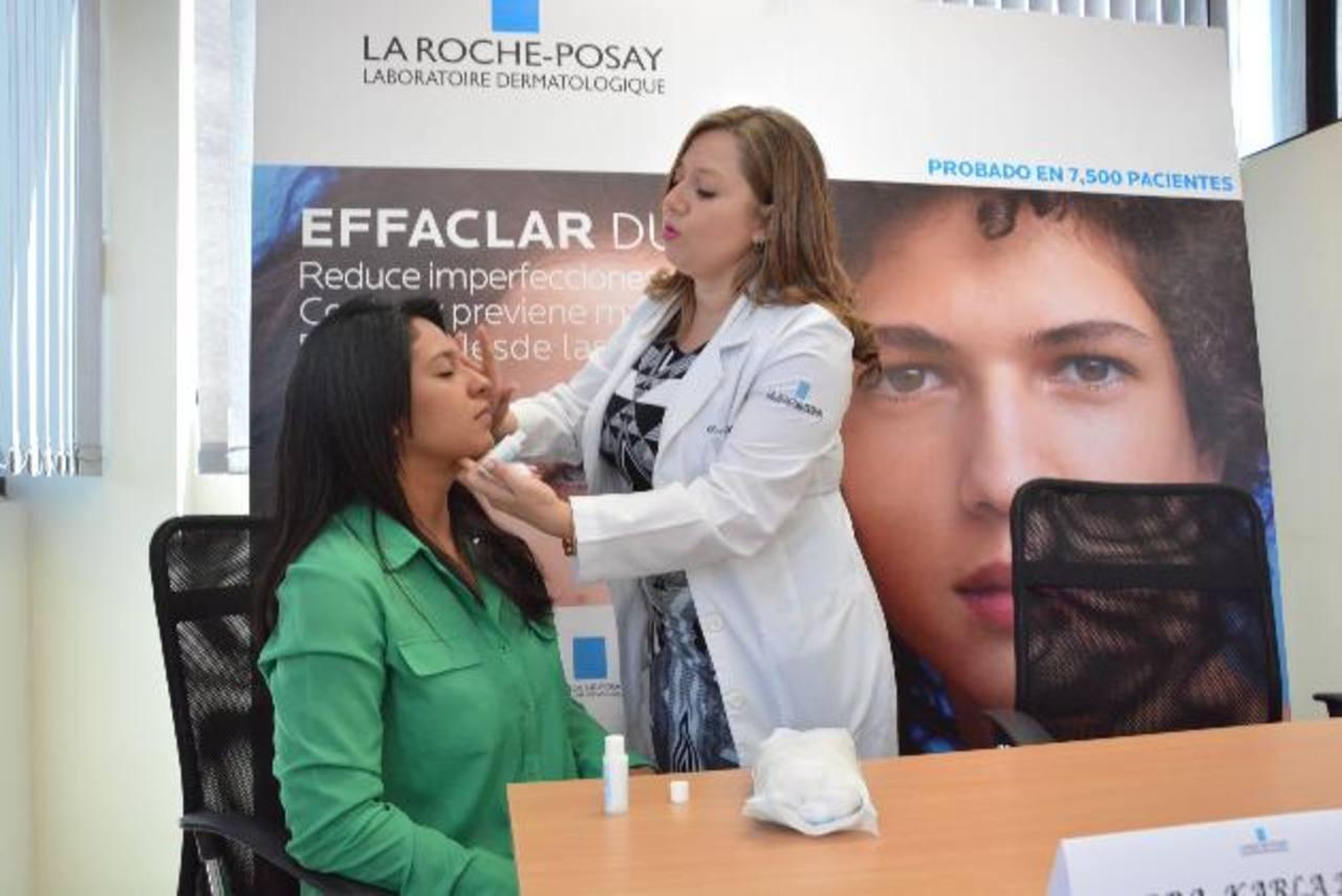 El producto es un avance muy significativo para tratar la piel con tendencia acnéica. Foto EDH / David Rezzio.