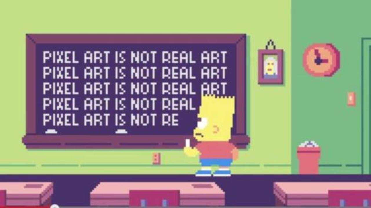 VIDEO: El mundo de Los Simpsons en píxeles