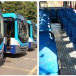 Acopatt exhibió la nueva flota de autobuses que prestarán servicio del colectivo.