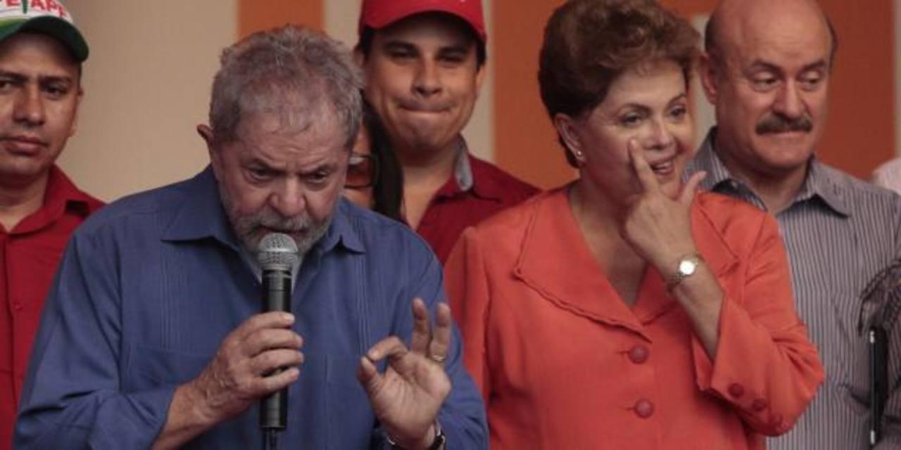 El exgobernante Inacio Lula da Silva (iz) y la actual presidenta brasileña, Dilma Rousseff. foto EDH /brasilpost.com.br