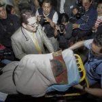 Ríos Montt llega en ambulancia a nuevo juicio en su contra